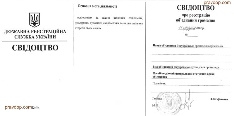 статут общественной организации образец в украине - фото 7
